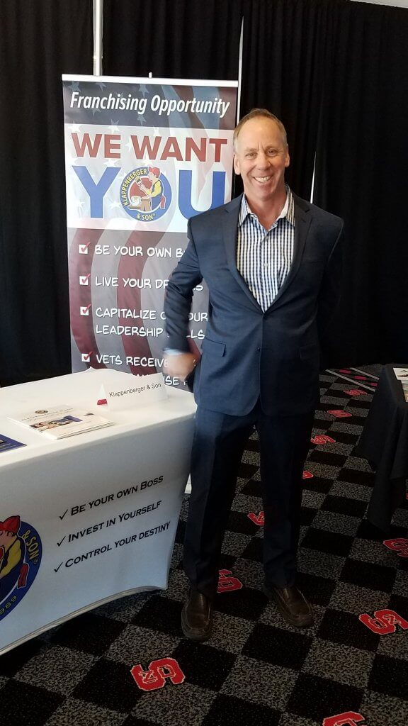David Klappenberger answers FAQ's from candidates standing at a franchise expo