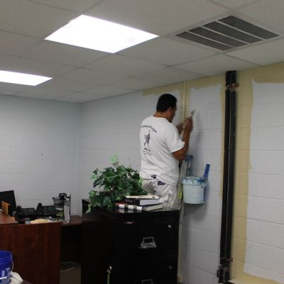 Painting offices at Coppin State